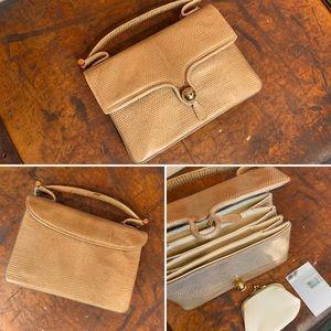 VTG Sacha French Genuine Lizard Skin Handbag